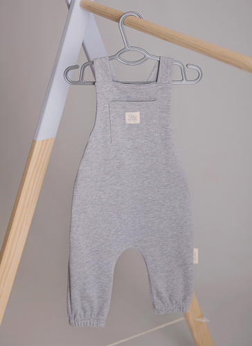 grey dungaree playsuit