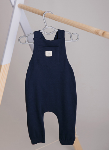 navy dungaree playsuit