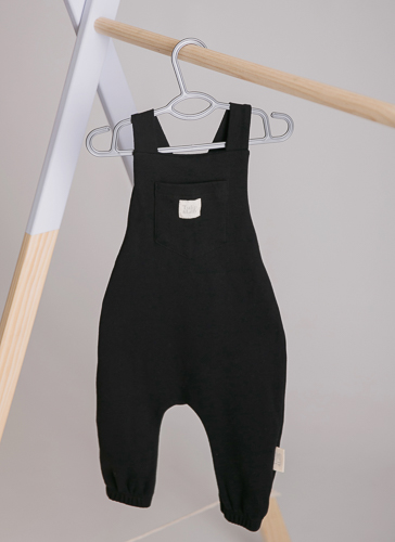 black dungaree playsuit